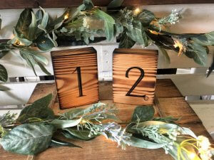 Rustic Table Numbers (1-25) $3 each
