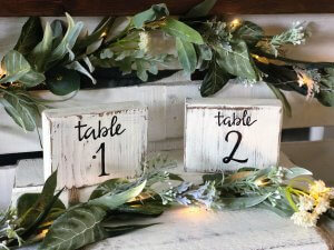 Table Numbers (1-25) $3 each