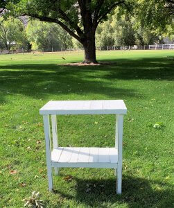 Small White Table for Rent