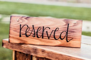 Rustic Reserved Sign Rental $10 each (set of 4)