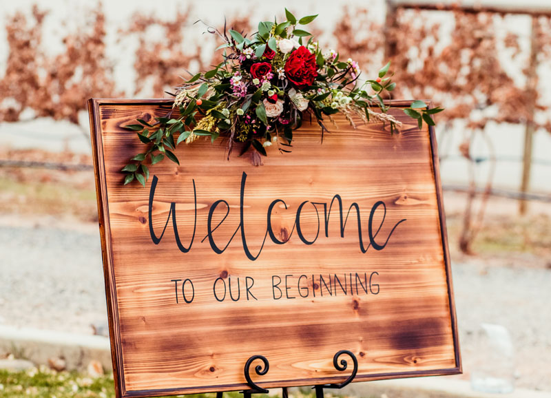 Rustic Welcome Sign Rental $50