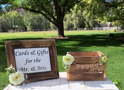 Rustic Card Box & Frame for Rent
